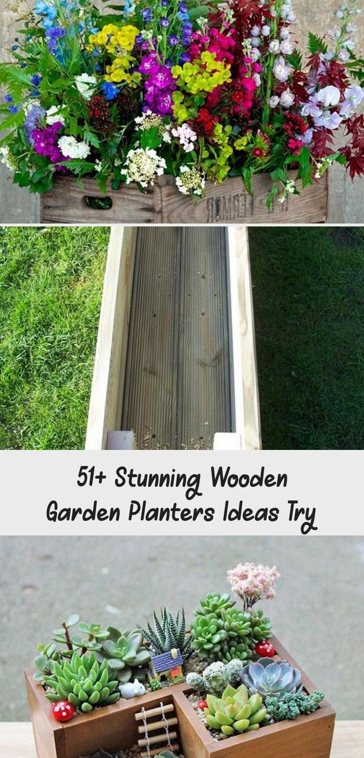 51+ Stunning Wooden Garden Planters Ideas Try - Pinokyo #woodengardenplanters