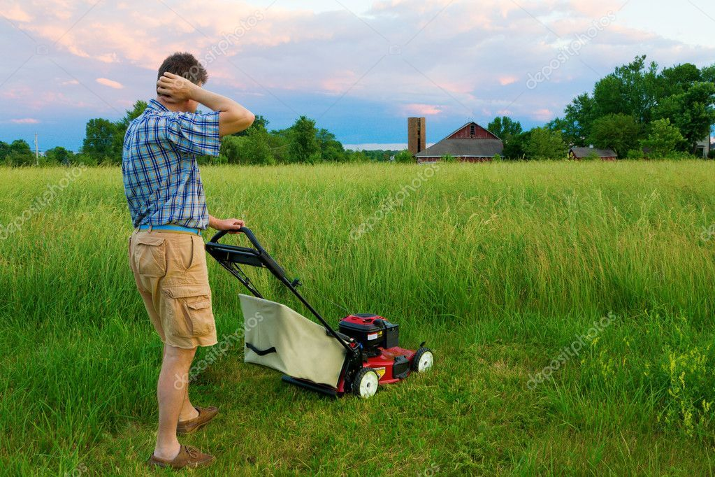 Mowing Job Stock Photo Ad Job Mowing Photo Stock Ad Mowing Tall Grass Lawn Mower Repair