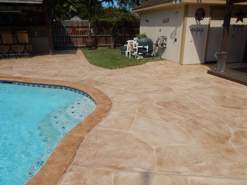 Beautify Your Concrete With Carvestone Outdoor Solutions Backyard Pool Backyard