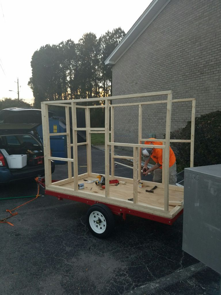 DIY 4X8 Micro-Tiny House Camper on Harbor Freight Trailer