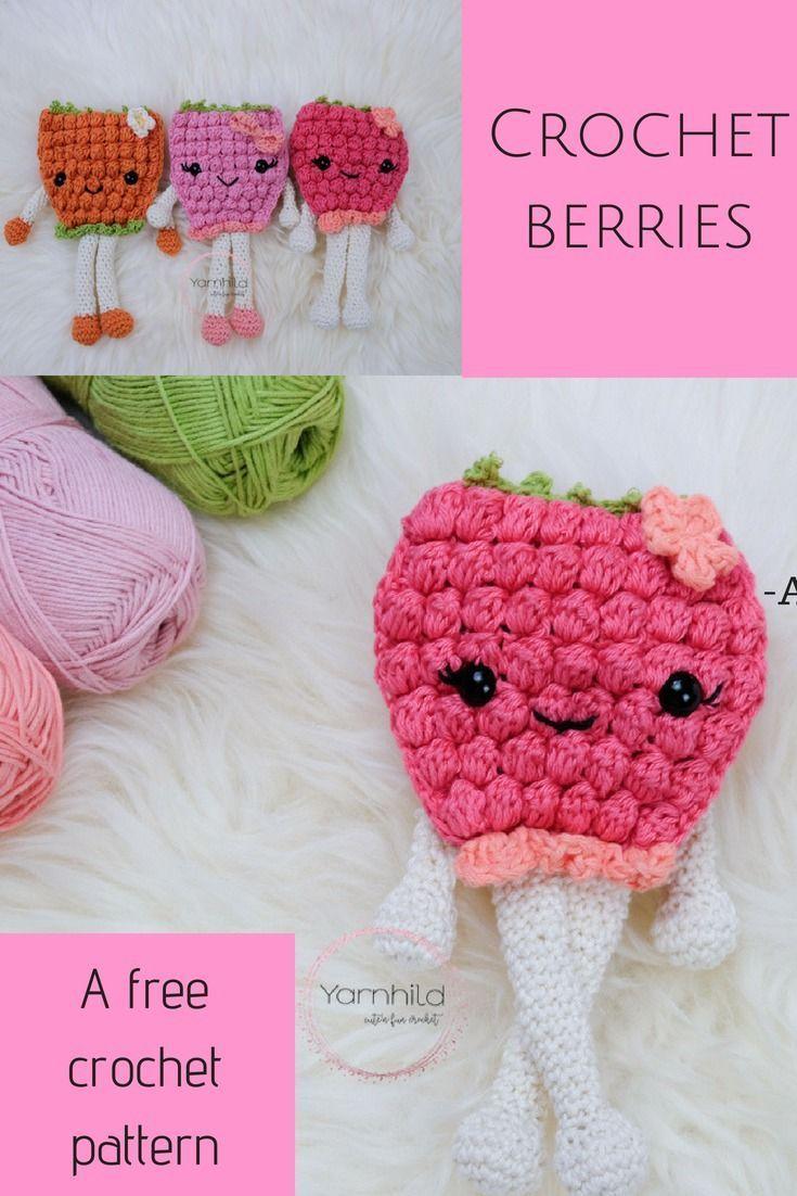 Crochet Berry Pattern - A free crochet pattern | Crochet | Pinterest ...