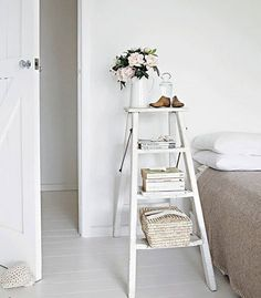 ladders using for bedside tables - Google Search