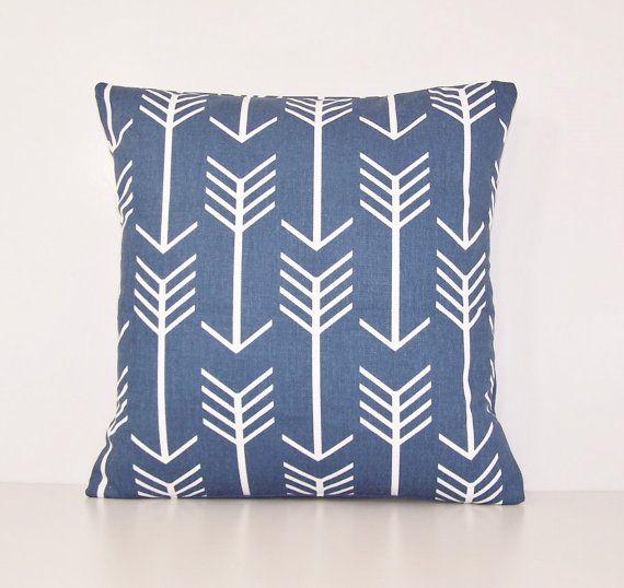 24X24 Pillow Insert Navy Arrow Pillow Cover Eurosham Lumbar18 X 18 20 X 20 24 X 24