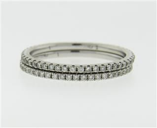Set of 2 18K Gold Diamond Eternity Band Rings Featured in our upcoming auction on June 14!