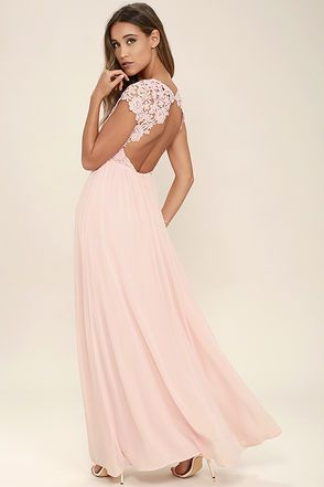 4dff95a515 The Greatest Blush Pink Lace Maxi Dress in 2019 | -M y S t y l e ...