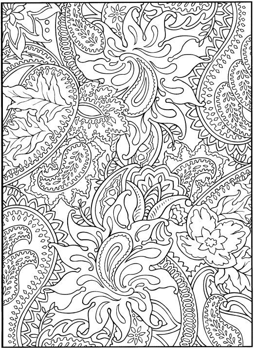 desenhos para colorir e desestressar baixe e imprima print coloring pagespaisley - Difficult Coloring Pages