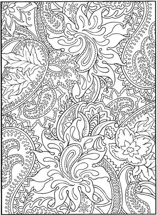 desenhos para colorir e desestressar baixe e imprima print coloring pagespaisley - Coloring Pages Difficult Printable