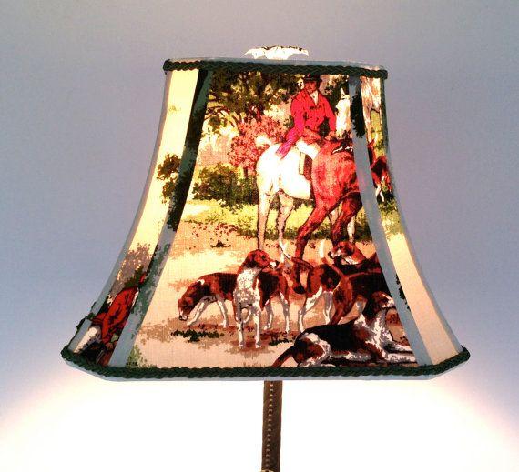 Fox hunt lamp shade rectangle bell lampshade by lampshadelady fox hunt lamp shade rectangle bell lampshade by lampshadelady mozeypictures Choice Image