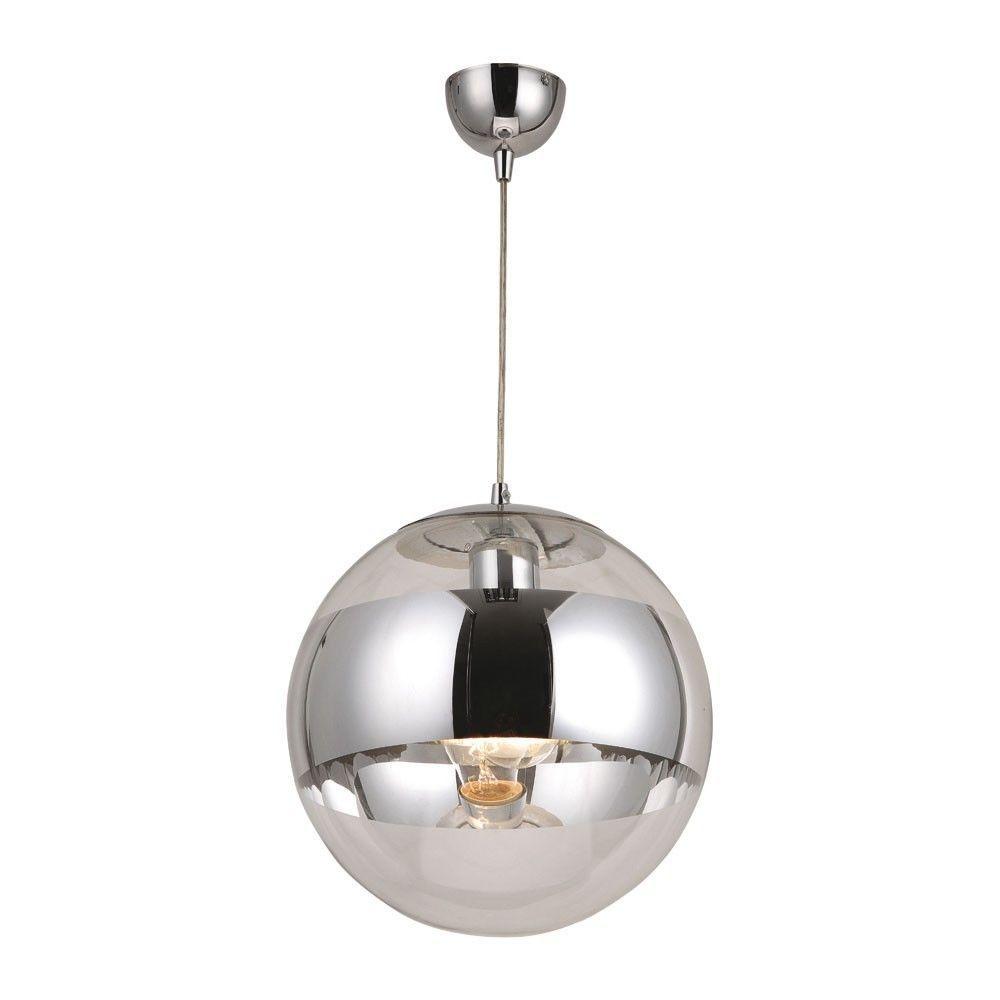 Galactica / Pendelleuchte Chrom Glaskugel 60W E27 / Hängelampe In Möbel U0026u2026