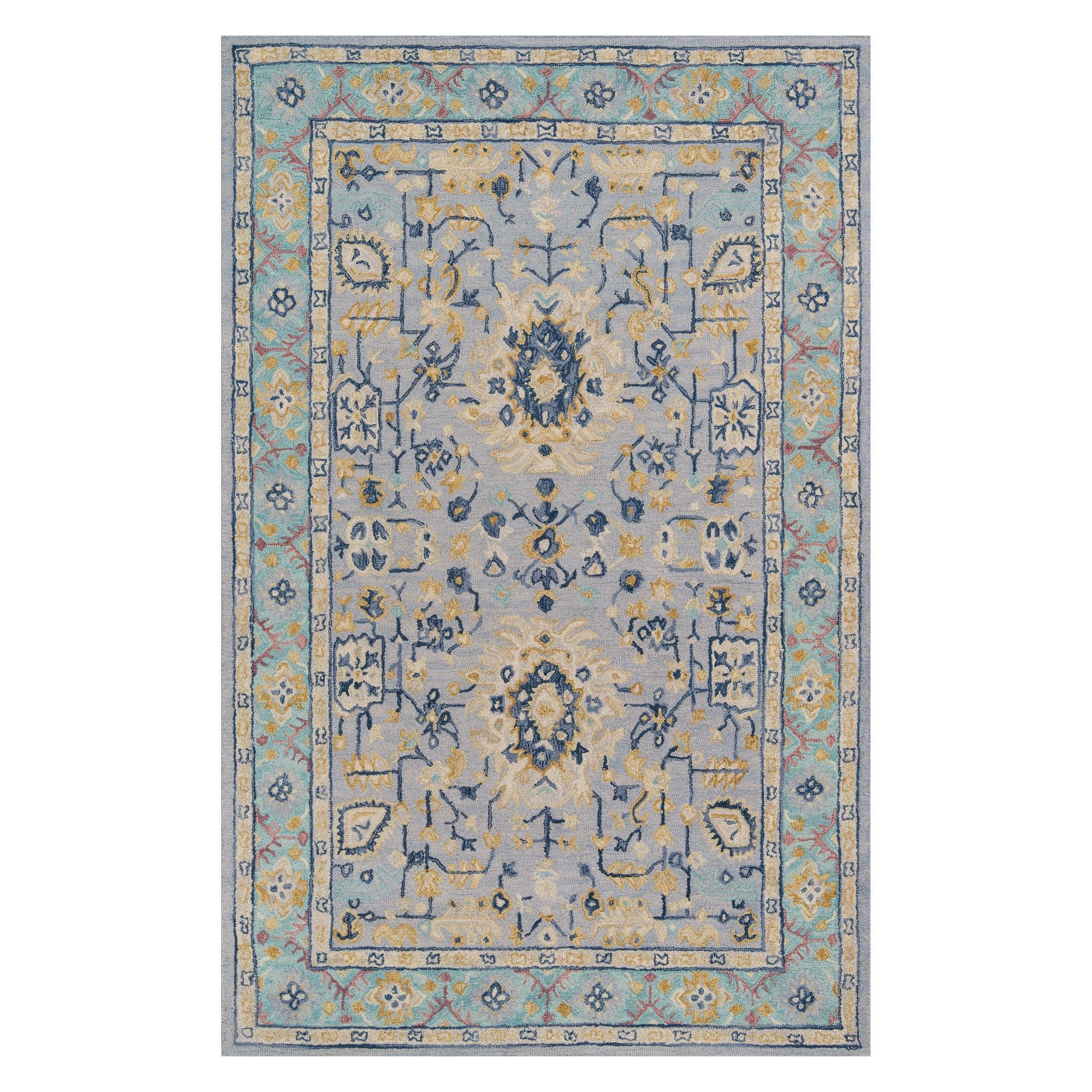 2 X3 Floral Tufted Accent Rug Blue Momeni With Images Area Rugs Blue Area Rugs Indoor Rugs