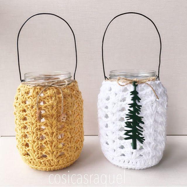 cosicasraquel patrón gratuito portavelas a crochet