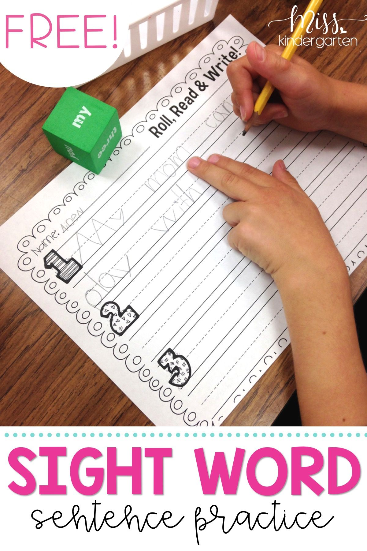 Use These Free Printable Worksheets At Home And In Centers
