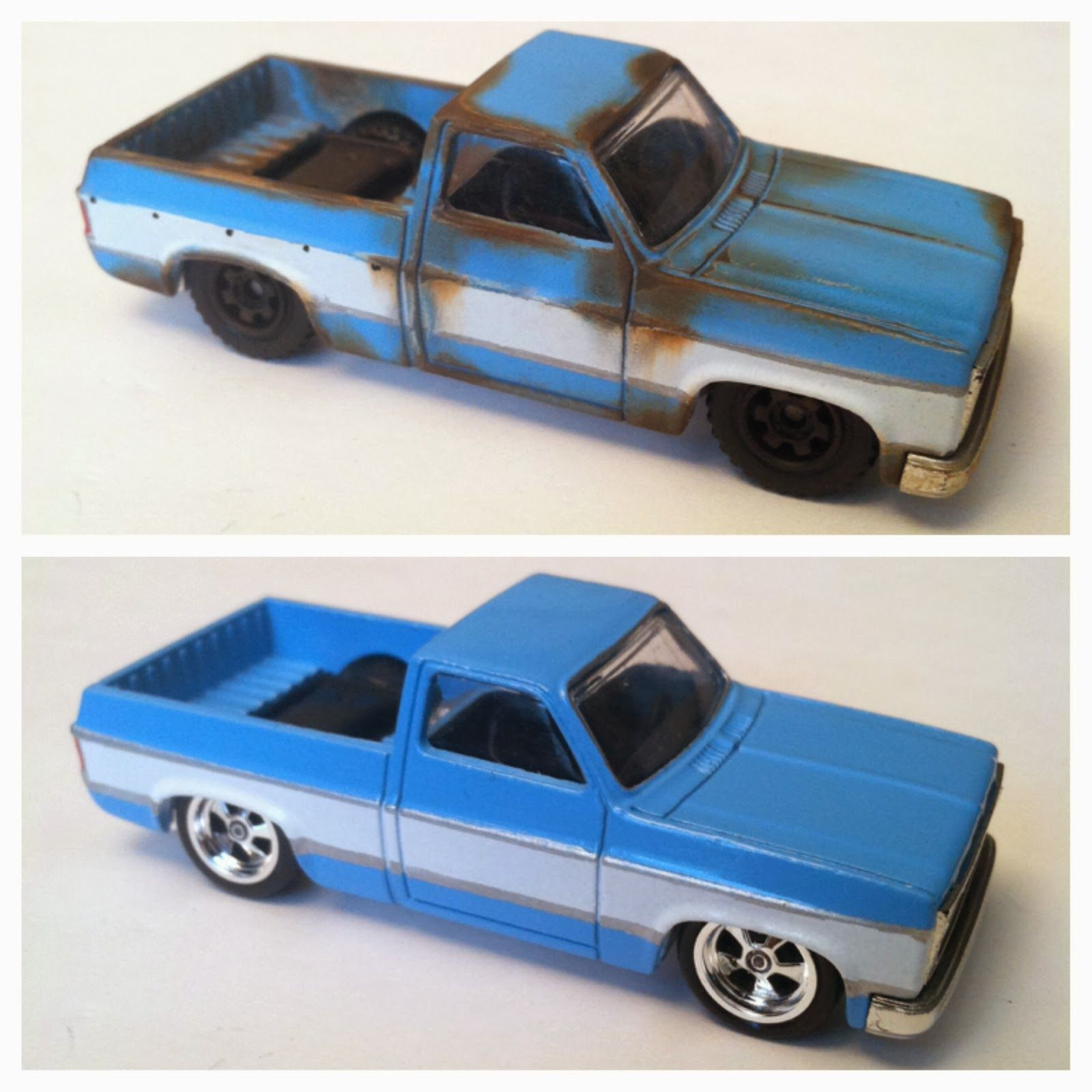 Hot Wheels Custom 83 Chevy Silverado One New And Rusted