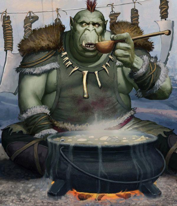 Jeff Lee Johnson | D&D Character Art: Orcs and Half-Orcs