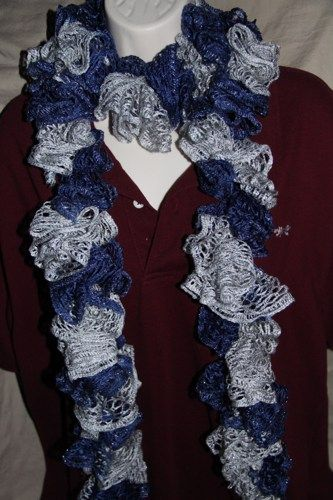 Fabulous team yarn in colors of Navy Blue and Gray - our local NFL
