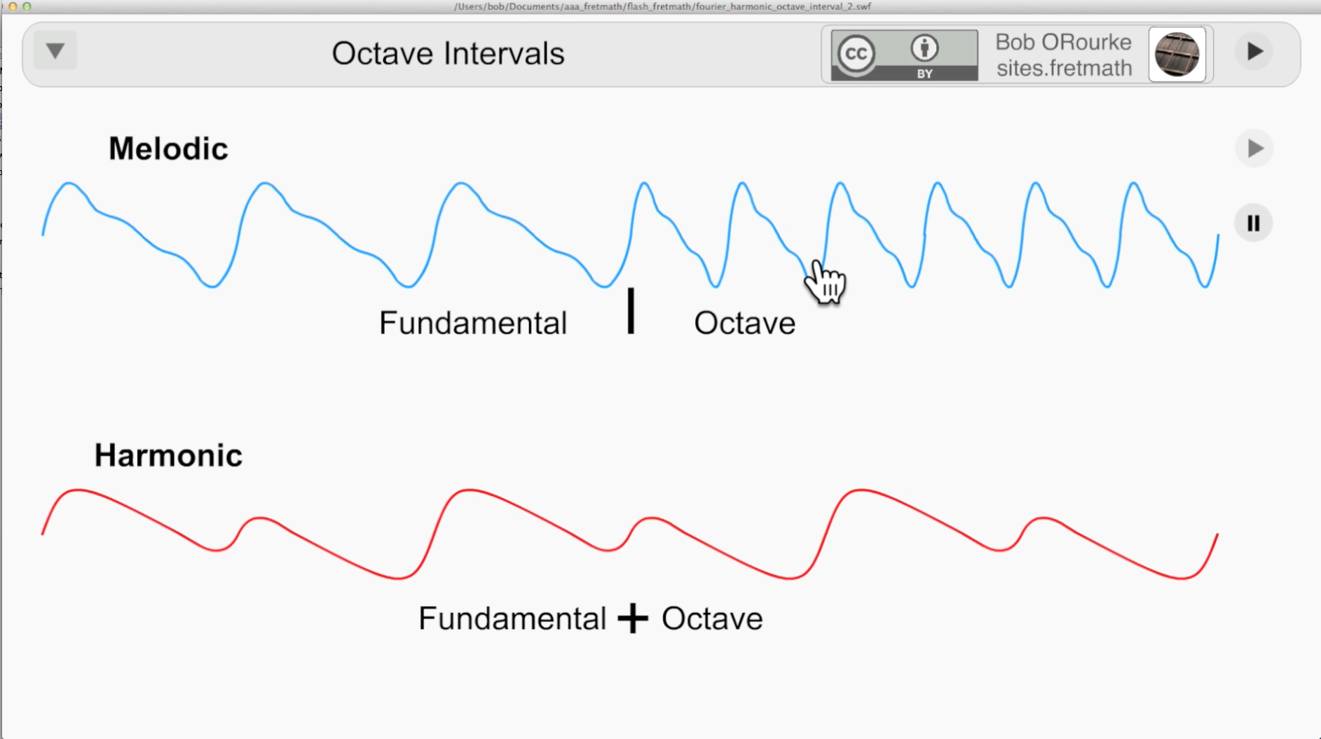 Octave Interval - Melodic and Harmonic Compared - (My