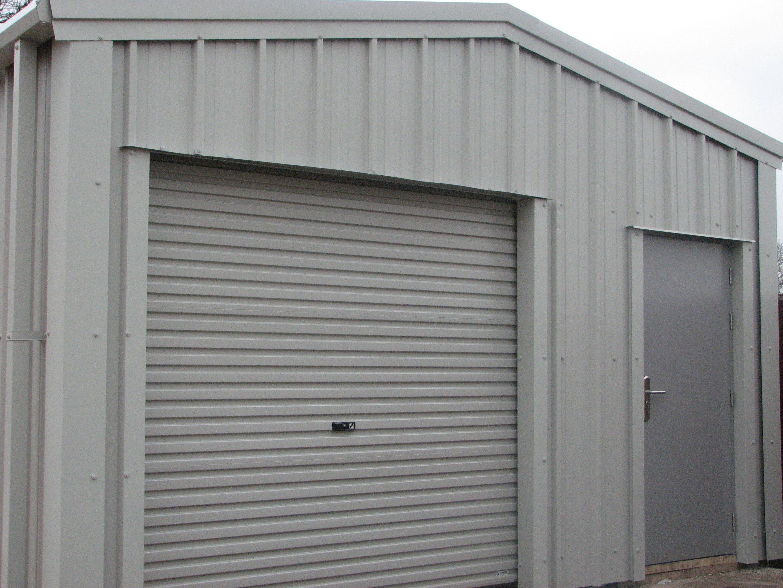 Steel Building Being Used As A Residential Garage In