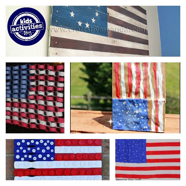 30 American Flag Crafts Flags Craft And Kid Activities
