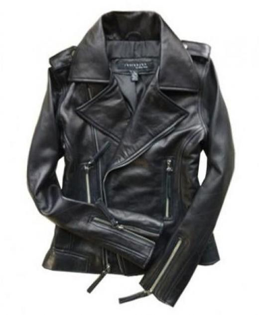 Black Leather Motorcycle Jackets with Epaulets | TrendTwo