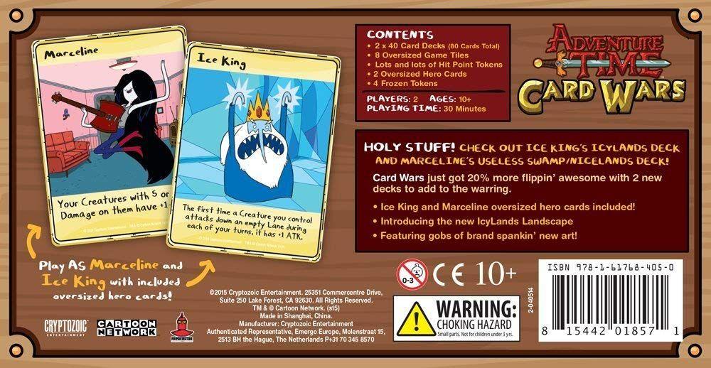 Adventure time card wars ice king vs marceline card game