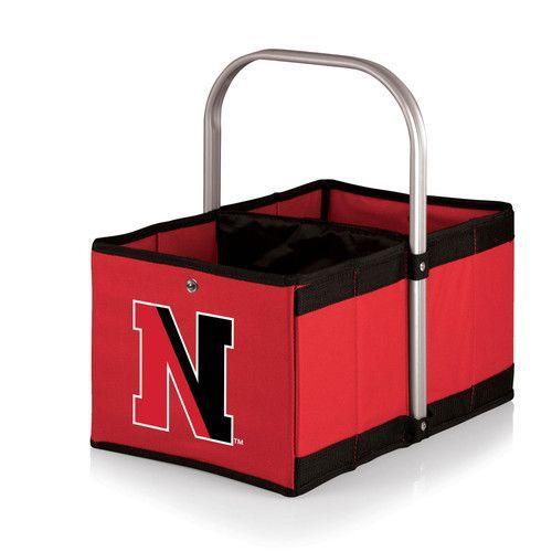 Urban Basket - Red (Northeastern University Huskies) Digital Print