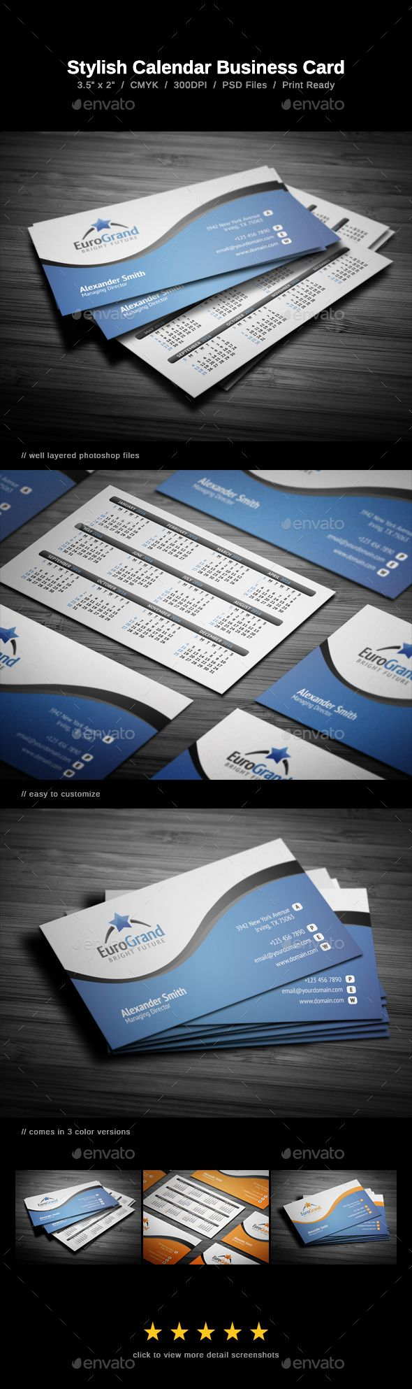 Stylish calendar business card business cards print templates and stylish calendar business card calendar template psd download here httpgraphicriver wajeb Choice Image