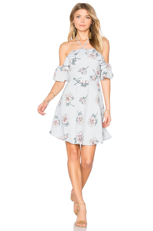 f5dd383f3f7 J.O.A. Off Shoulder Mini Dress in Grey Multi $92   My Style ...