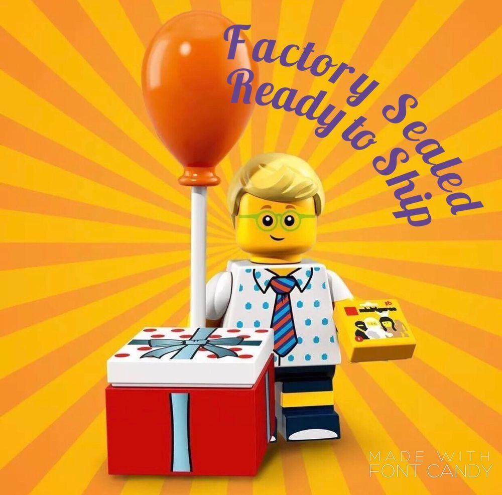 LEGO BIRTHDAY PARTY BOY ~ Factory Sealed Series 18 Minifigure ~READY TO SHIP!