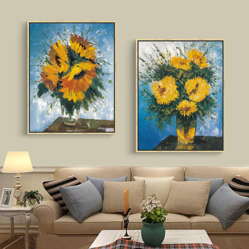 Frameless Nordic Flower Poster Art Canvas Painting Prints Wall Decor  Painting Decorative Pictures Living Room Home Part 79