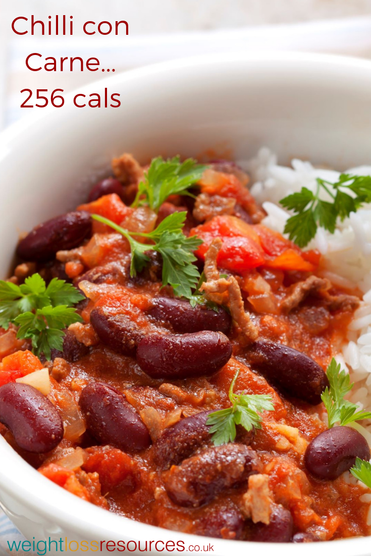 Low Calorie Chilli Recipe: Only 256 calories per serving, this chilli is high fibre and a perfect meal for those watching their waistline! #dietrecipes #recipeideas #lowcalorie #healthydiet #healthyeating