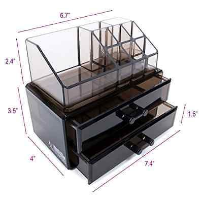 NEW Acrylic Makeup Cosmetic Drawer Organizer Case Storage Jewelry