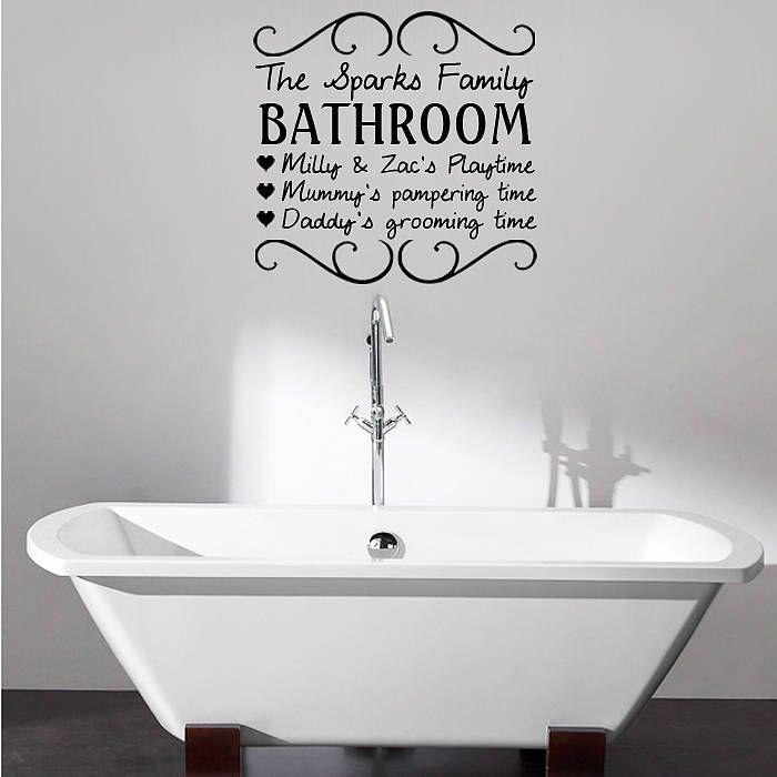 pics photos bathe wall art sticker quote bathroom bubbles toilet ...