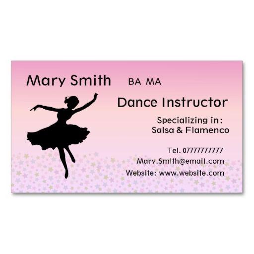 Dance Teacher Dancing Instructor Business Cards Zazzle Com Dance Teacher Cards Printing Double Sided