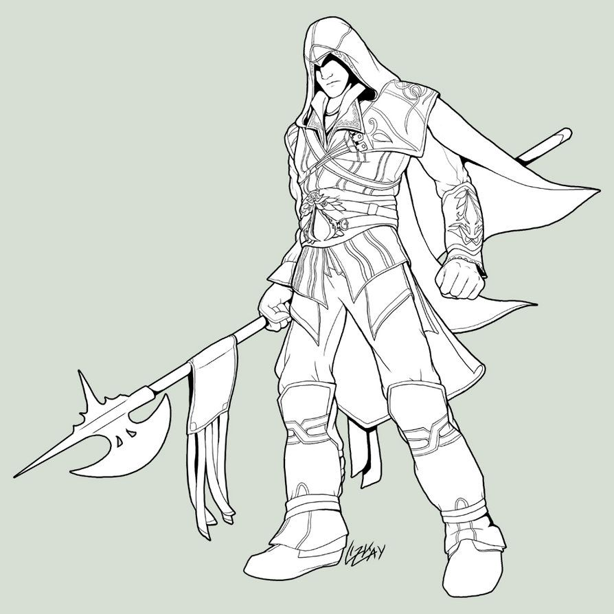 Assassins Creed 4 Coloring Pages Assassin Creed Ezio Colouring