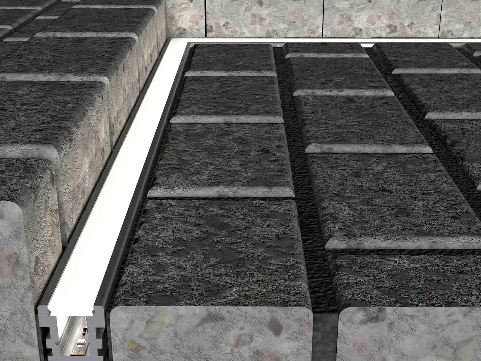 Trittfestes Tiefes Bodenprofil Ip67 Mit Satinierte 86 70 Wegbeleuchtung Beleuchtung Garten Terrassenbeleuchtung