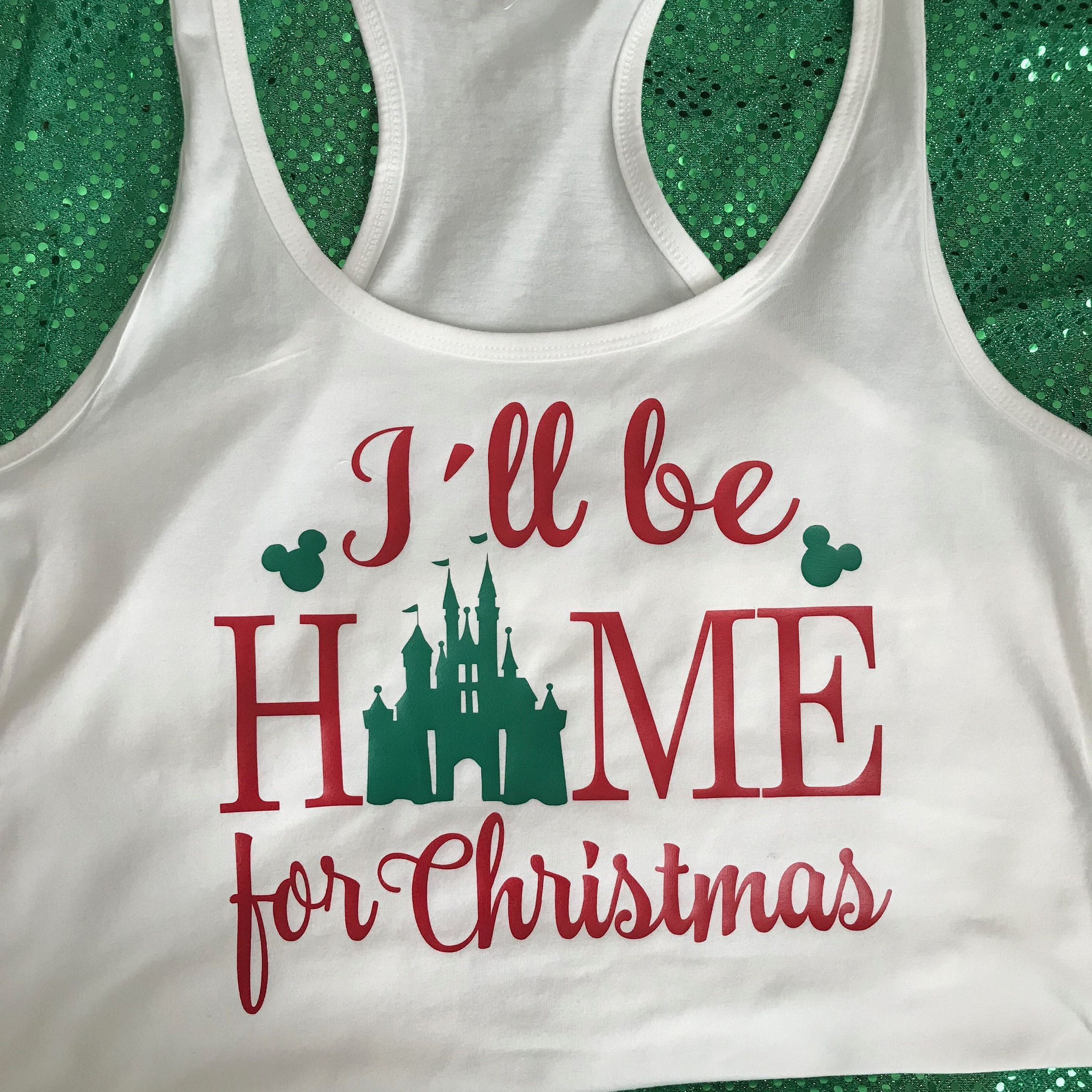 Inspired I\'ll Be Home For Christmas Castle Holiday T Shirt/Tank ...