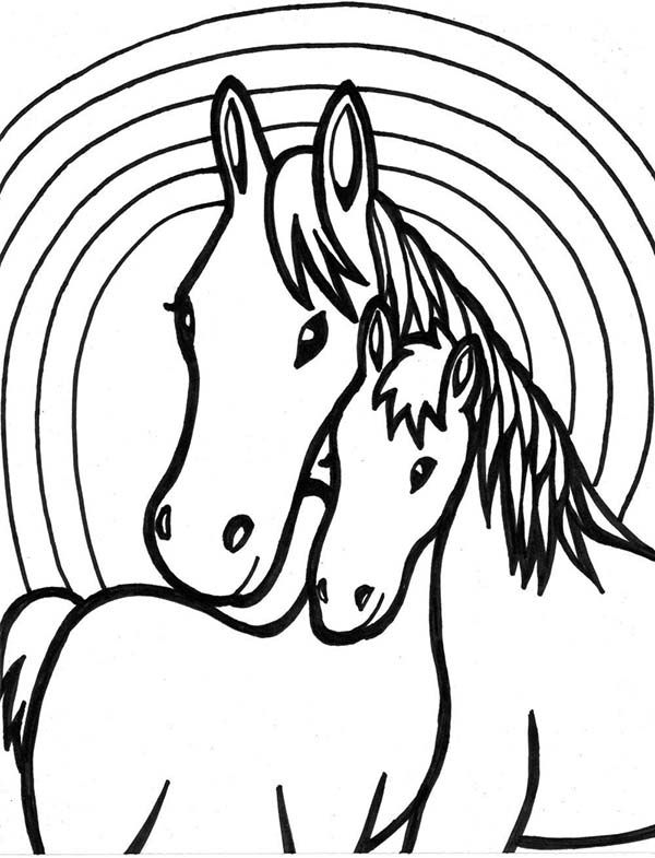 Horse Two Horses Mating Coloring Page Horse Coloring Pages Farm Animal Coloring Pages Coloring Pages