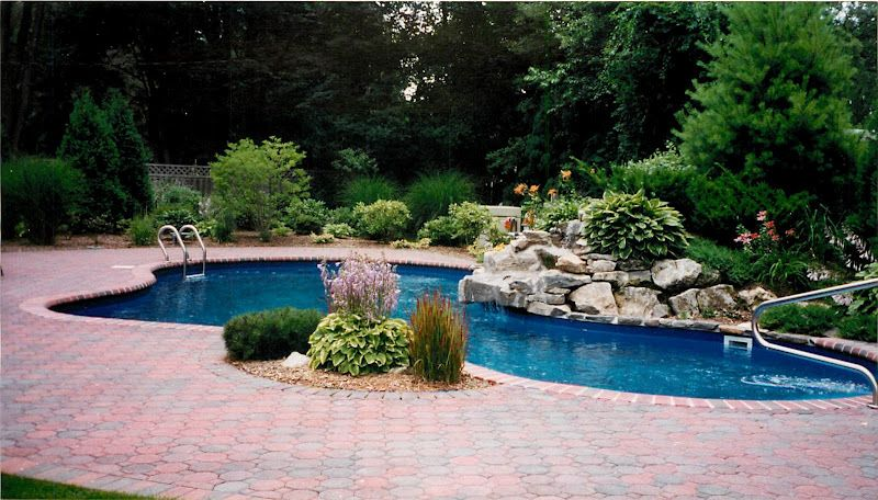 pool designs and landscaping landscaping with pool designs patios and waterfalls this summer - Waterfall Landscape Design Ideas