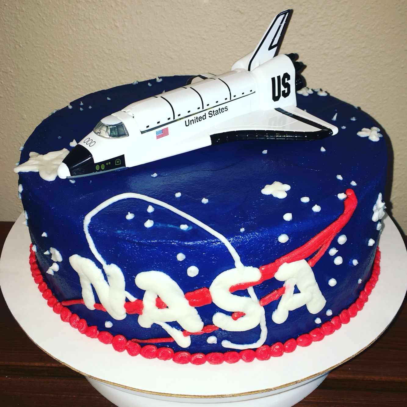 Nasa Space Shuttle Birthday Cake