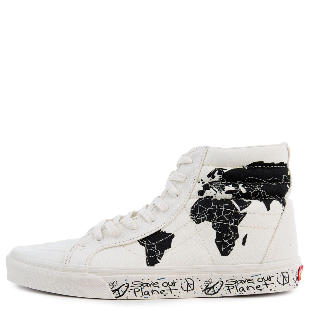 Vans Save Our Planet X Vans Sk8 hi Reissue Classic White