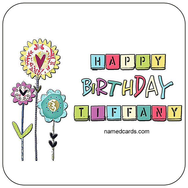 Happy Birthday Tiffany Card For Facebook