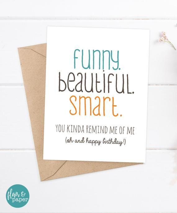 Girlfriend Birthday Card Friend Sister Funny Beautiful