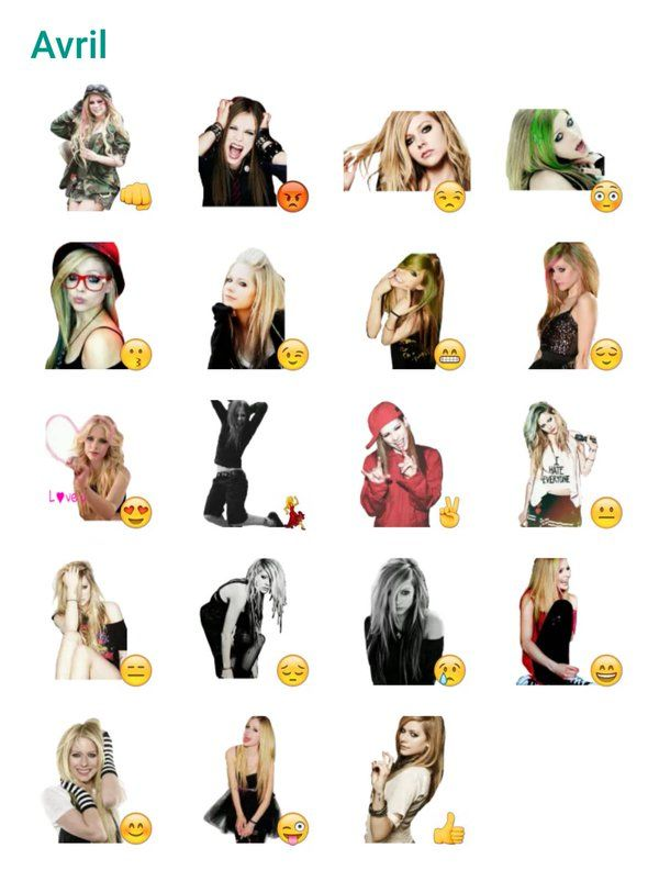 Avril Lavigne Sticker Pack #Telegram #Stickers | Avril lavigne