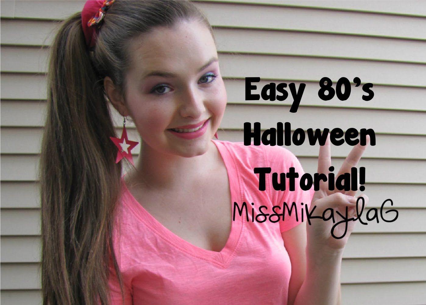 easy 80s halloween tutorial