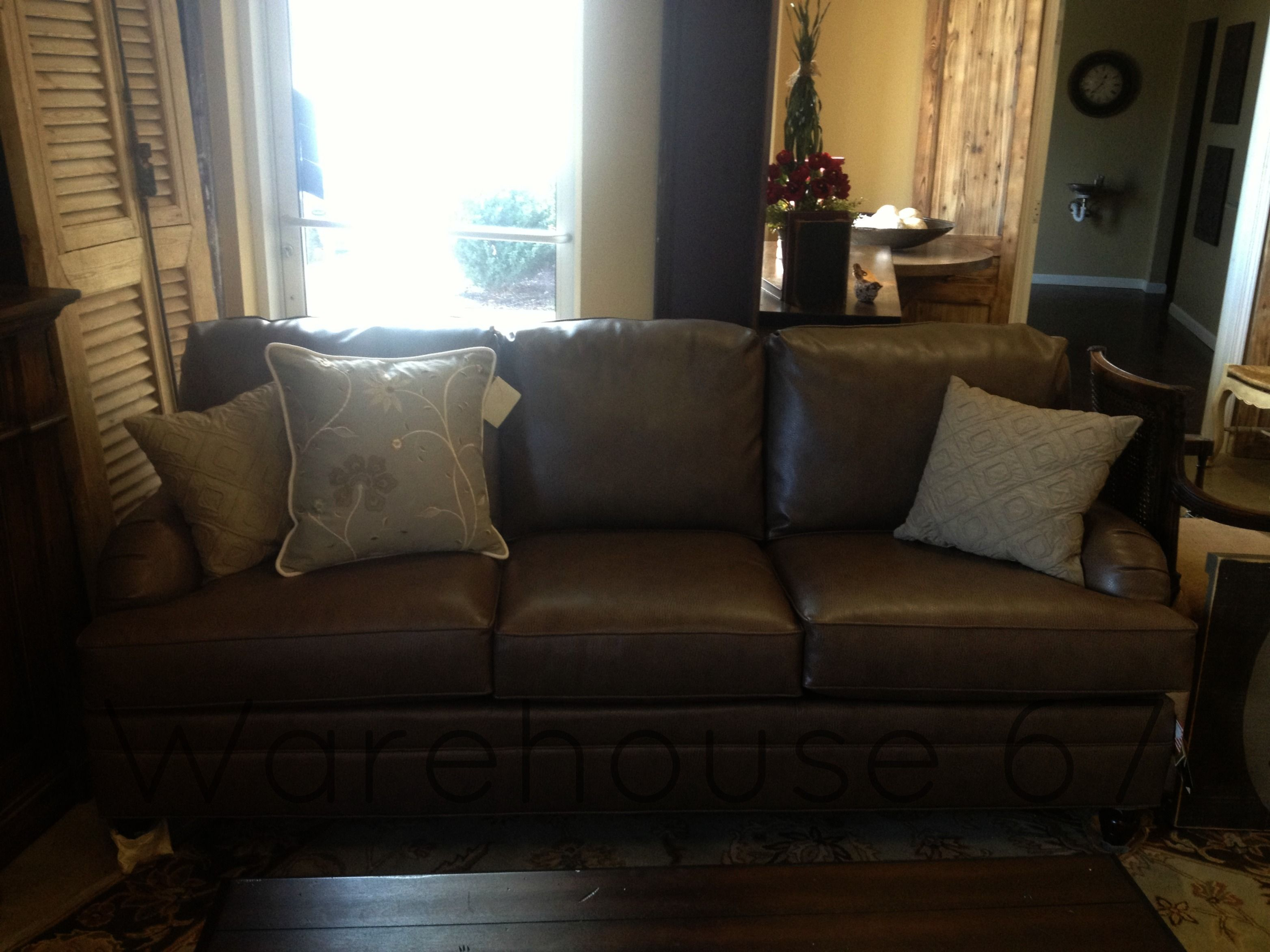 Beautiful Faux Ostrich Leather Sofa here at Warehouse 67 ...