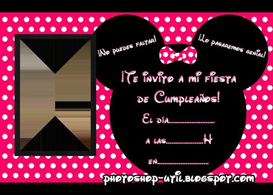 Tarjeta De Invitación Para Cumpleaños De Minnie Imagui
