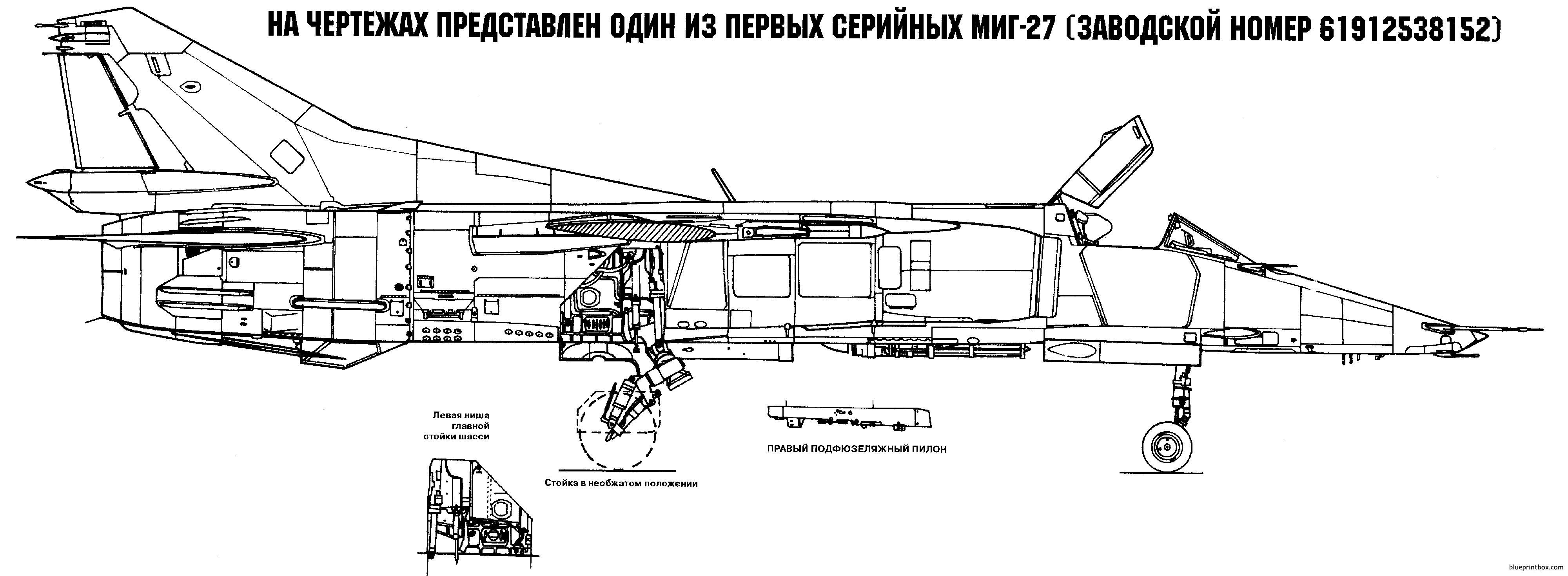 Mikoyan Gurevich Mig 27 2 - Blueprintbox Com