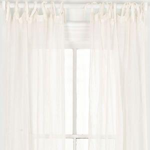 Savannah Linen Gauze Ivory Window Panel