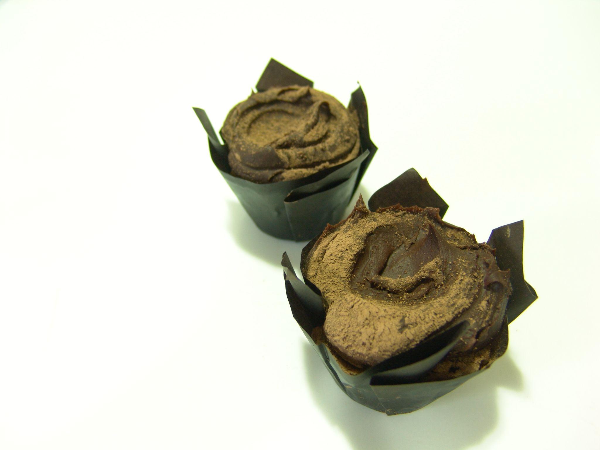 Cupcakes inspirados en bombones: Trufa de Chocolate
