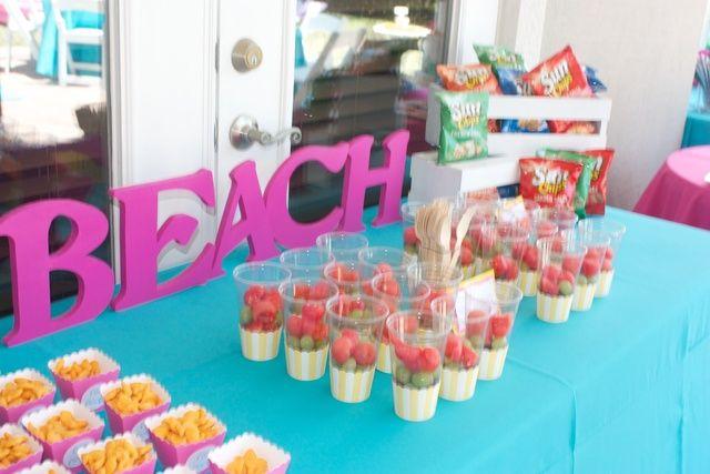 Surfer Girl And Backyard Beach Bash Birthday Party Ideas Beach